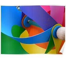Rainbow Whirlybird Poster