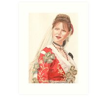 Albanian traditional Wedding Costume of Piana Degli Albanesi Art Print