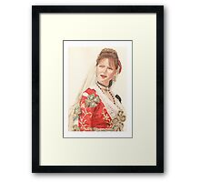 Albanian traditional Wedding Costume of Piana Degli Albanesi Framed Print