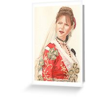 Albanian traditional Wedding Costume of Piana Degli Albanesi Greeting Card