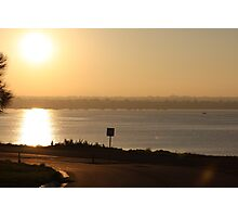 sunset of geelong Photographic Print