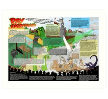 HarryHausen Infographic Art Print