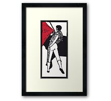 Matador.  Paso de pecho. Framed Print
