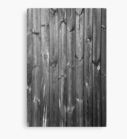 black and white wooden boards Canvas Print