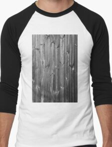 black and white wooden boards Men's Baseball ¾ T-Shirt