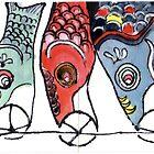 Koinobori (Carp-shaped Windsocks) by dosankodebbie