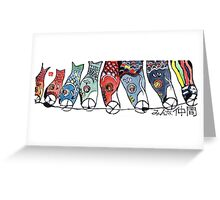 Koinobori (Carp-shaped Windsocks) Greeting Card