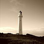 Great Ocean Road lighthouse  -  Victoria   -   Australia  - sepia by lighthousecove