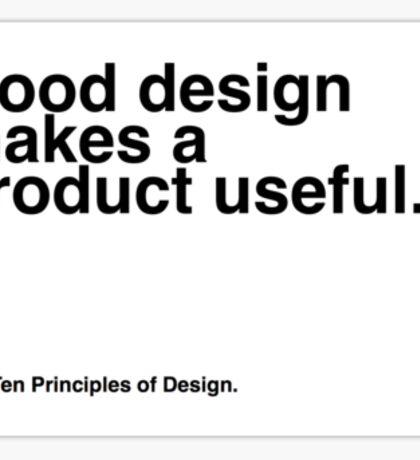 Principles of Design 2 Sticker