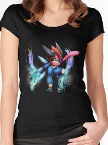 Ash-Greninja Women's Fitted Scoop T-Shirt