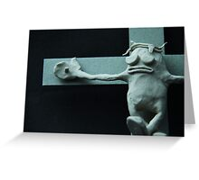 Passion of the Plasticine Greeting Card