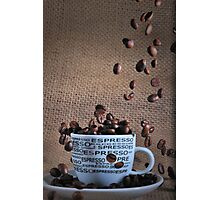 Coffee beans rain Photographic Print