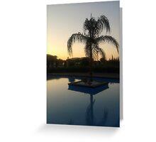 Grecian Sunset Greeting Card