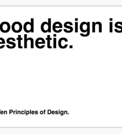 Principles of Design 3 Sticker