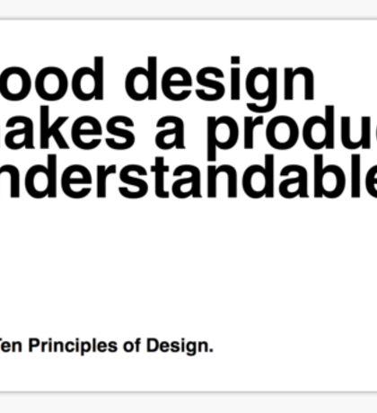 Principles of Design 4 Sticker