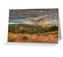 The Valley - Merlins Lookout , Hill End NSW - The HDR Experience Greeting Card