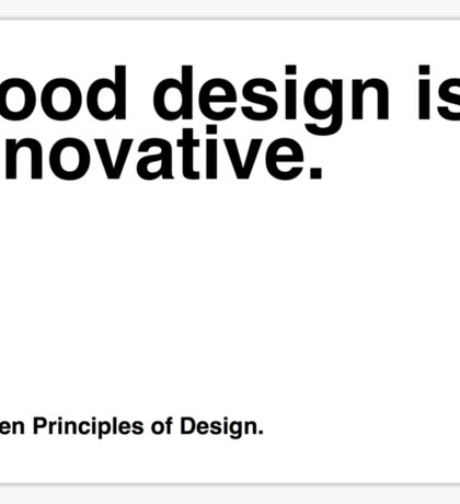 Principles of Design 1 Sticker