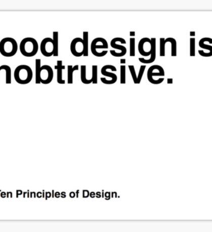 Principles of Design 5 Sticker