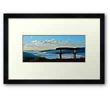 Sit and take in the view.. Framed Print