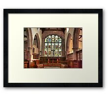 The Altar Window Framed Print