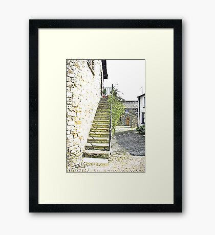 The Steps - Dent Cottage Framed Print