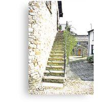 The Steps - Dent Cottage Canvas Print