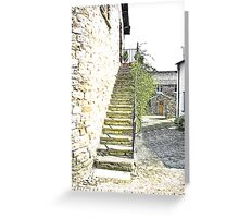 The Steps - Dent Cottage Greeting Card