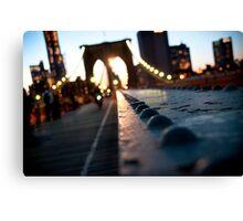 Along the Brooklyn Bridge Canvas Print