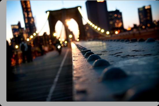 Along the Brooklyn Bridge by Kalpesh Patel