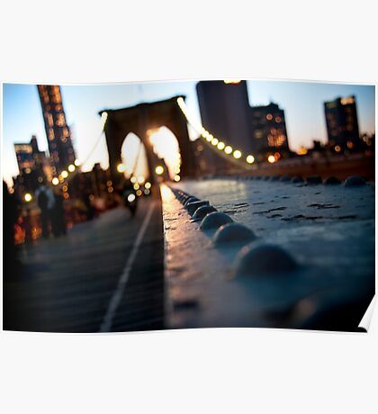 Along the Brooklyn Bridge Poster