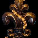Fleur de lis gold by dstarj