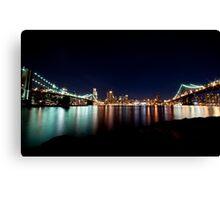 Two Bridges ... from Brooklyn Canvas Print