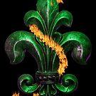 Fleur de lis emerald by dstarj