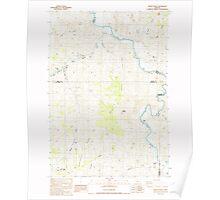 USGS Topo Map Oregon Muddy Ranch 280881 1987 24000 Poster