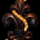 Fleur de lis bronze by dstarj