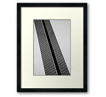 Backslash BW Framed Print