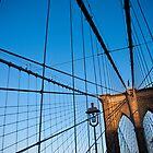 Sunset on the Brooklyn Bridge by Kalpesh Patel