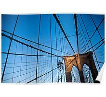 Sunset on the Brooklyn Bridge Poster