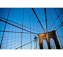 Sunset on the Brooklyn Bridge Photographic Print