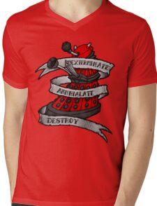 Red Dalek Mens V-Neck T-Shirt