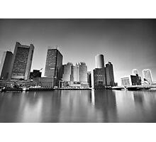Boston-on-Sea BW Photographic Print