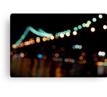 Blurry Manhattan Bridge Canvas Print