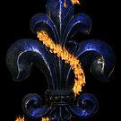 Fleur de lis blue by dstarj