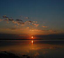 Blue and Orange Rising Sun - Chittaway Bay by AmyBonnici