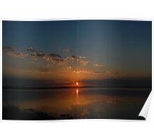Blue and Orange Rising Sun - Chittaway Bay Poster