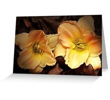 """""""Day Lillies On Show"""" Greeting Card"""