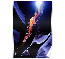 Colours of the Slot Canyons Poster