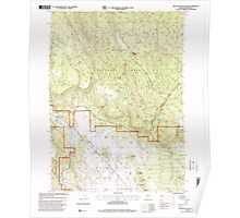 USGS Topo Map Oregon Buttes of The Gods 279223 1998 24000 Poster