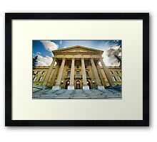 Edmonton Legislature Pseudo HDR Framed Print