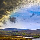 Approaching Thunderstorm over the Hudson by alan shapiro